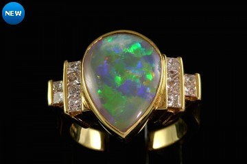 18kyg crystal opal ring
