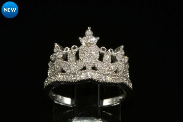 14kwg diamond crown ring Orig. $1850.00