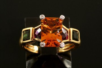18k citrine and multi-stone ring