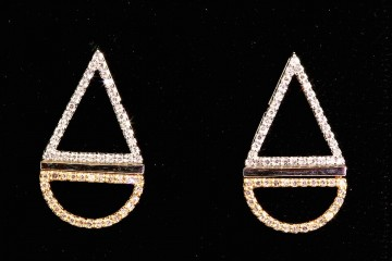 14ktt diamond drop earrings