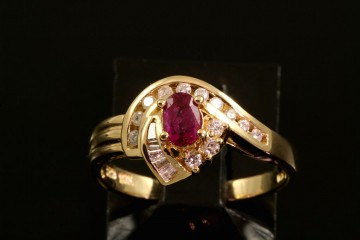 14kyg ruby and diamond ring.  Orig. $525.00