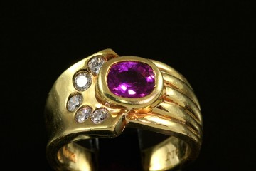 18kyg ruby and diamond ring.  Orig. $3250.00