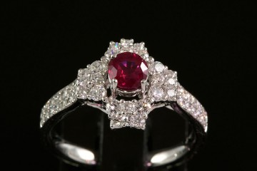 18kwg ruby and diamond ring.  Orig. $3800.00