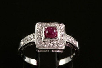 14kwg ruby and diamond ring.  Orig.  $900.00