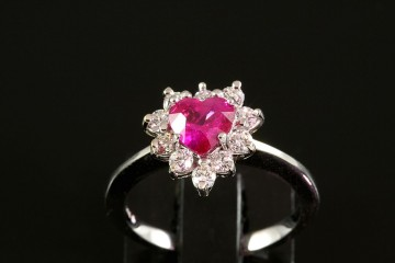 14kwg ruby and diamond ring.  Orig. $3850.00