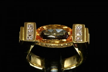 18kyg imperial topaz and diamond ring