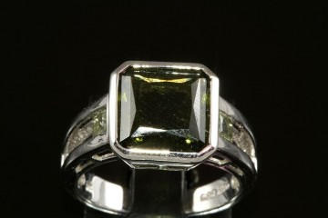 14kwg green tourmaline ring