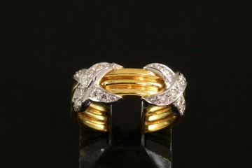 18k/plat diamond ring