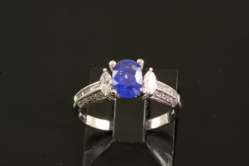 14kwg sapphire and diamond ring