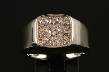 14kwg diamond mans ring