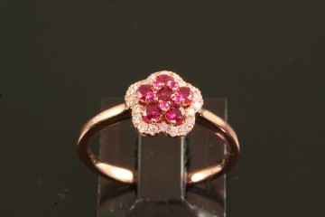 14krg ruby and diamond ring