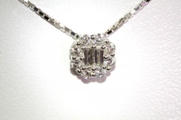 18kwg diamond slide pendant