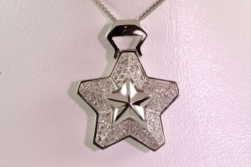 14kwg diamond star pendant