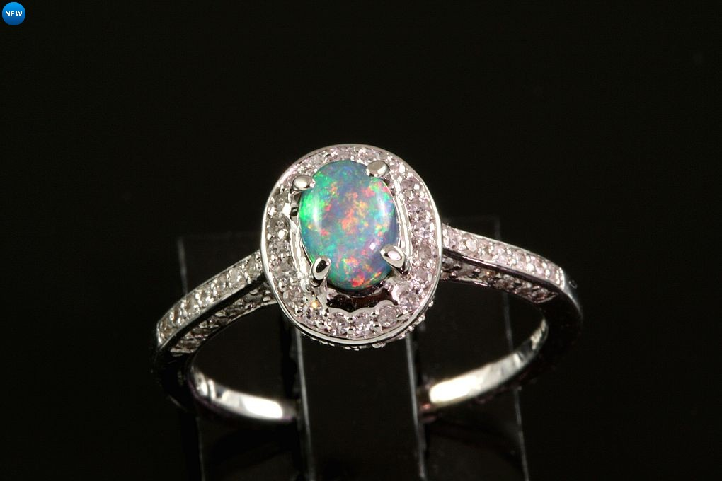 black size opal sh auctions k engagement ring rings