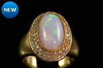 18kyg opal and diamond ring