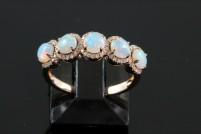 14krg opal and diamond ring