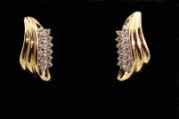 14kyg diamond earrings