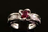 18kwg ruby and diamond ring    Orig. $2200.00
