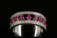 18kg ruby and diamond band