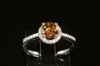 14kwg natural mocha zircon and diamond ring