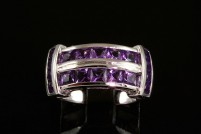 14kwg amethyst ring