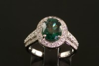 14kwg tourmaline and diamond ring