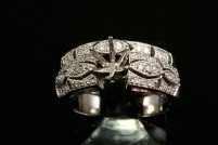 14kwg vintage style diamond bridal setting