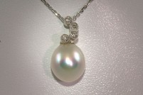18kwg South Sea pearl pendant