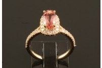 14krg imperial topaz and diamond ring