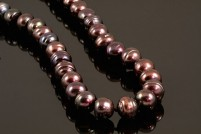 Sterling silver chocolate freshwater pearl strand